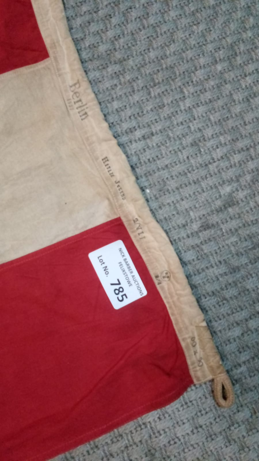 Militaria : German Hitler Youth interest a flag, s - Image 2 of 2