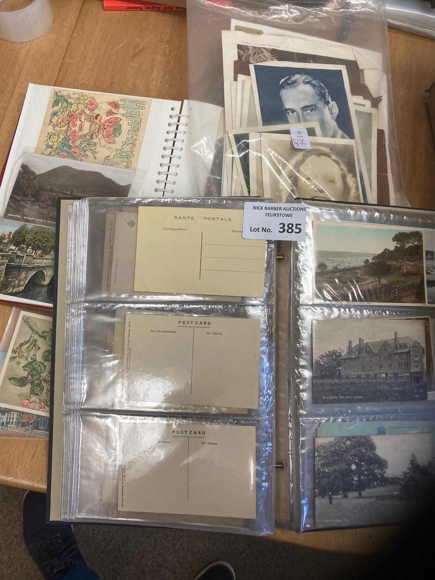 Postcards : Box of cards inc 2 albums and some loo