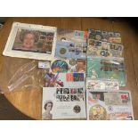 Stamps : GB coins covers some signed - inc John No