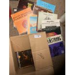 Records : Jazz - heavy box of 80+ albums inc Krupa