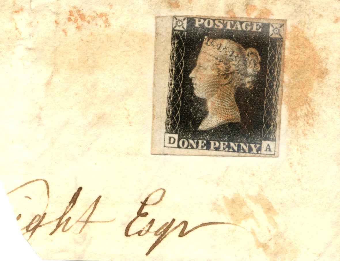 Stamps : GREAT BRITAIN 1840 1d Black on original
