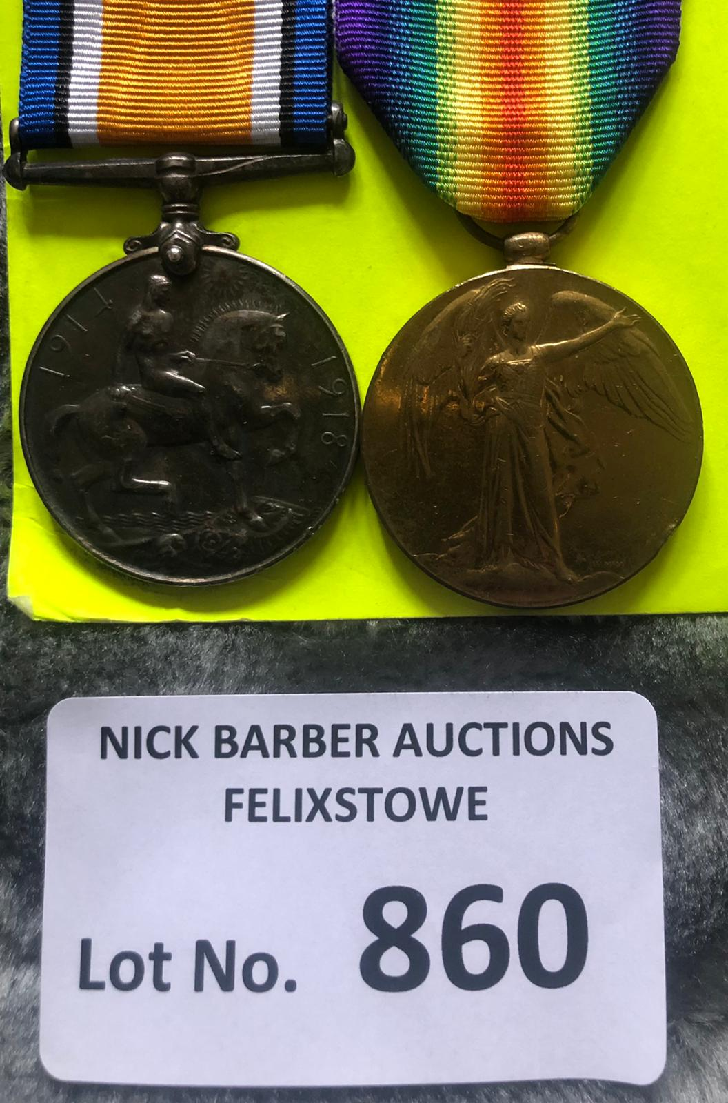 Militaria : WWI Pair of medals to RFM W F Martin