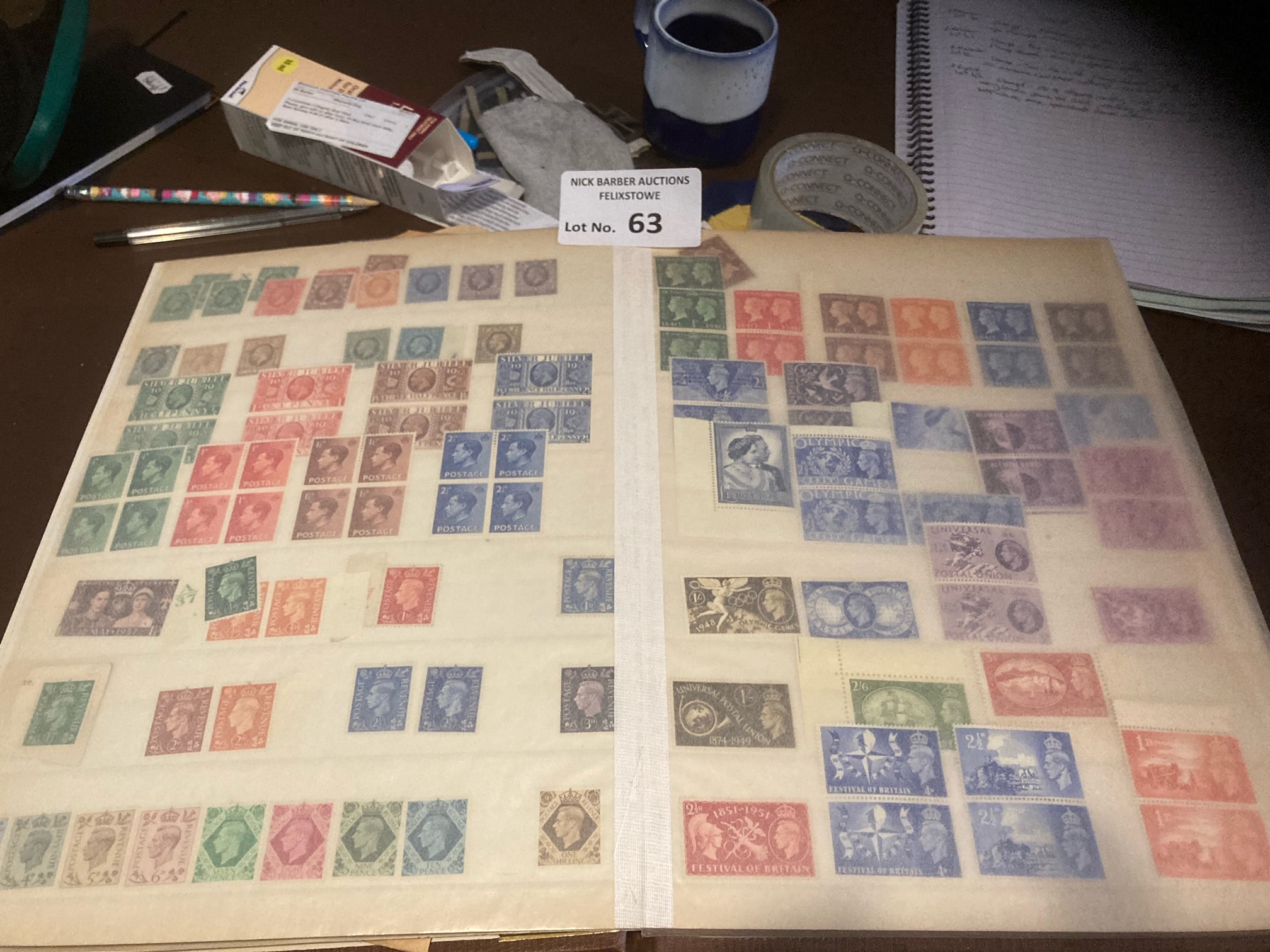 Stamps : GB 4 albums mostly mint QV-QEII many bloc - Image 4 of 5