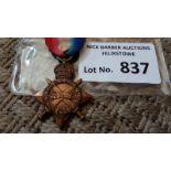 Militaria : Medal 1914-15 star 45582 Pnr W F Symon