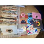 Records : Box of original 1960's 45's inc many rar