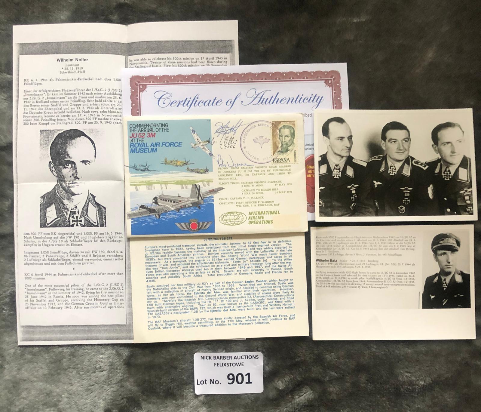Militaria : WWII Luftwaffe acr mj r wilhelm bath,