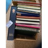 Stamps : Box of albums commonwealth & World Mix -