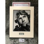 Militaria : Kenneth Moore 14x11 mounted signature