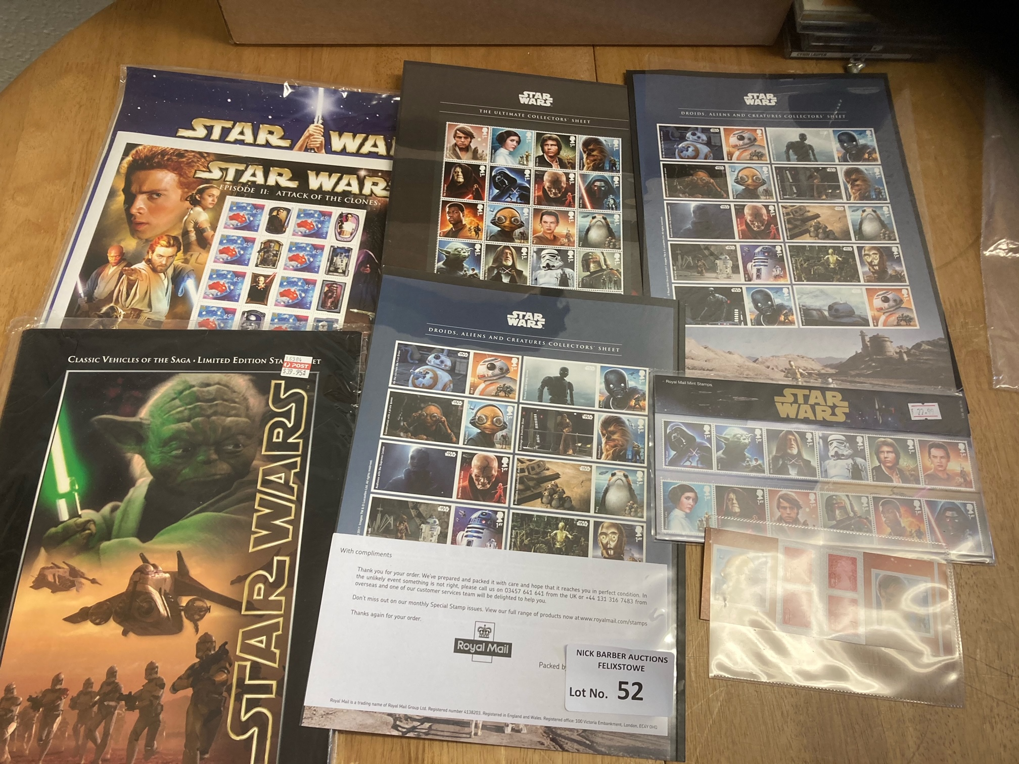 Stamps : GB Star Wars stamp issues - specials inc