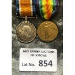 Militaria : WWI Pair of medals to PRT H. Allway Mi