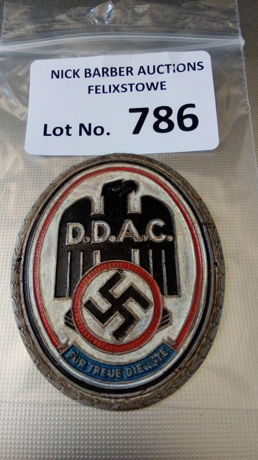 Militaria : German DDAC plaque - GVF