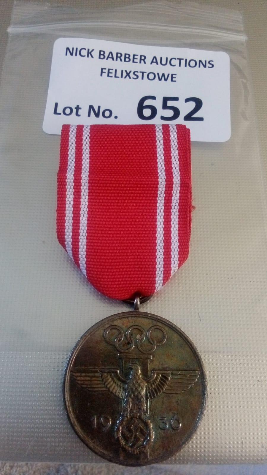 Militaria : German Olympic Medal, Berlin 1936, ser