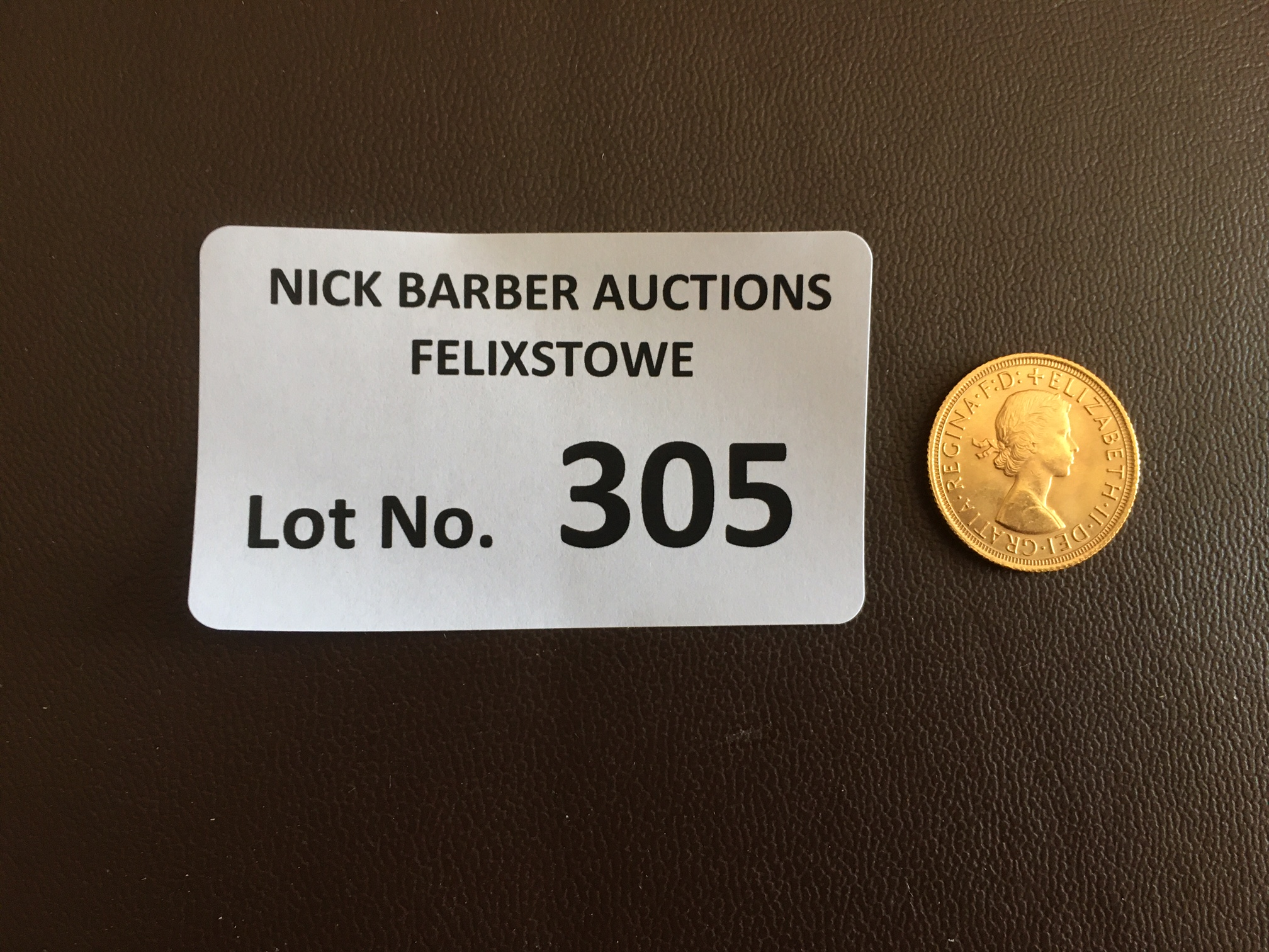 Coins : GB QEII 1964 Gold Sovereign in fine cond