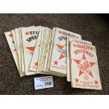 Speedway : Stoke (Hanley) programmes 1950-53 - gen