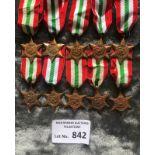 Militaria : 10x Italy stars 1939-45