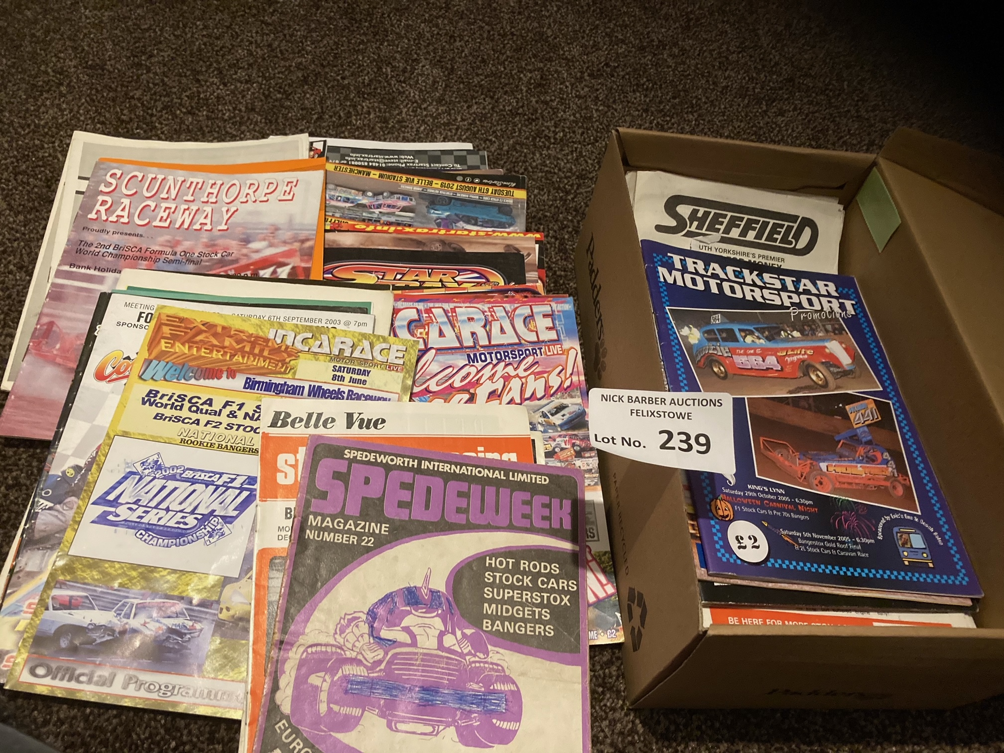 Stock Car : Collection of 90 programmes 1970's -20