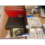 Stamps : Large heavy box of world stamp albums & c