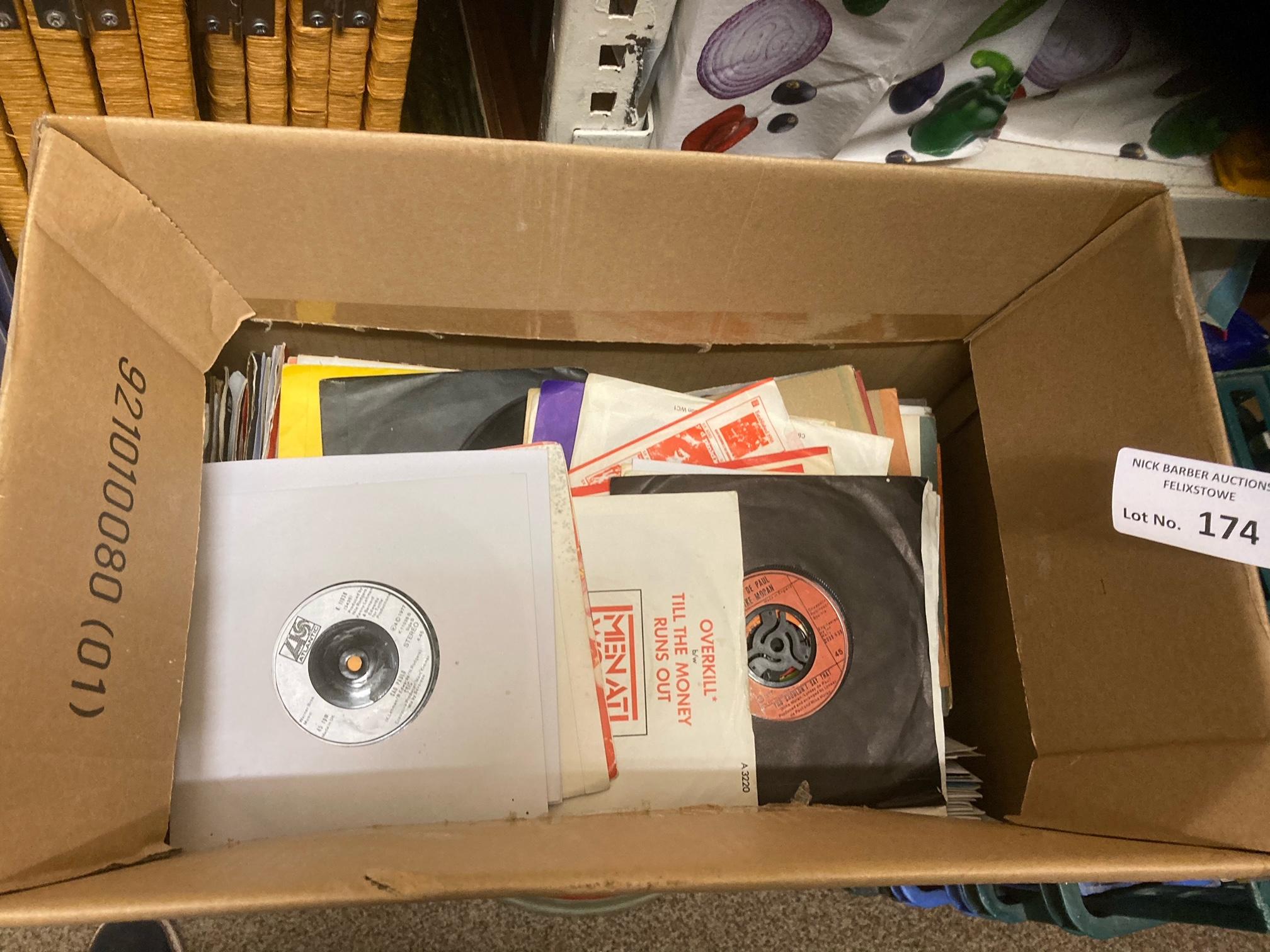 """Records : Box of 250+ 7"""" singles - mixed lot all i"""