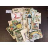 Postcards : 80 art drawn children on greetings car