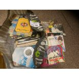 """Records : Large bag of mixed 7"""" singles x250 good"""