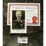 Militaria : Kommodore Karl Kessal signed 6x4 b/w p