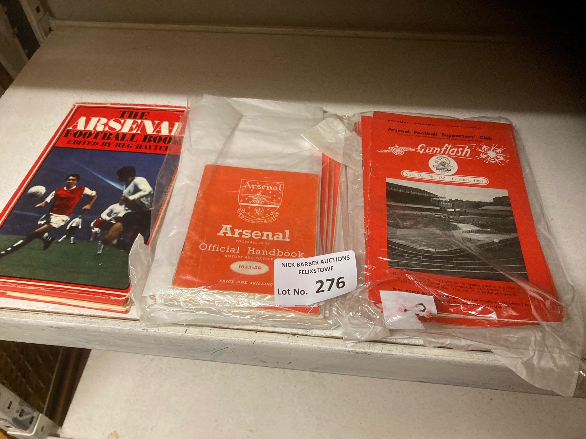 Football : Arsenal collection of handbooks 1955/6