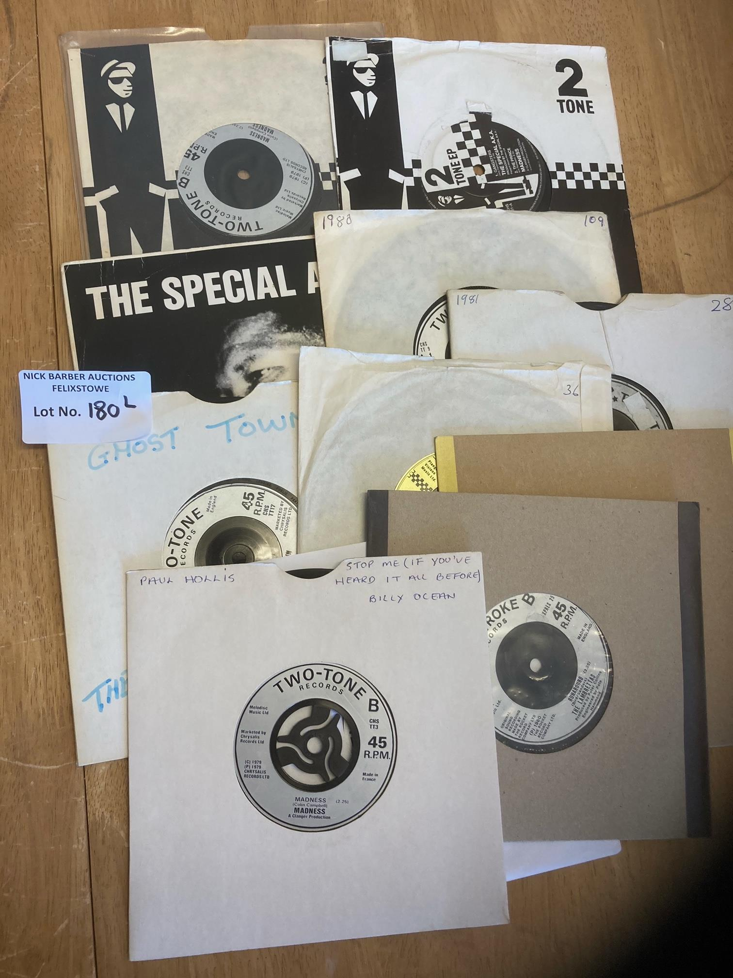 """Records : Two Tone - label 7"""" singles x12 in good"""