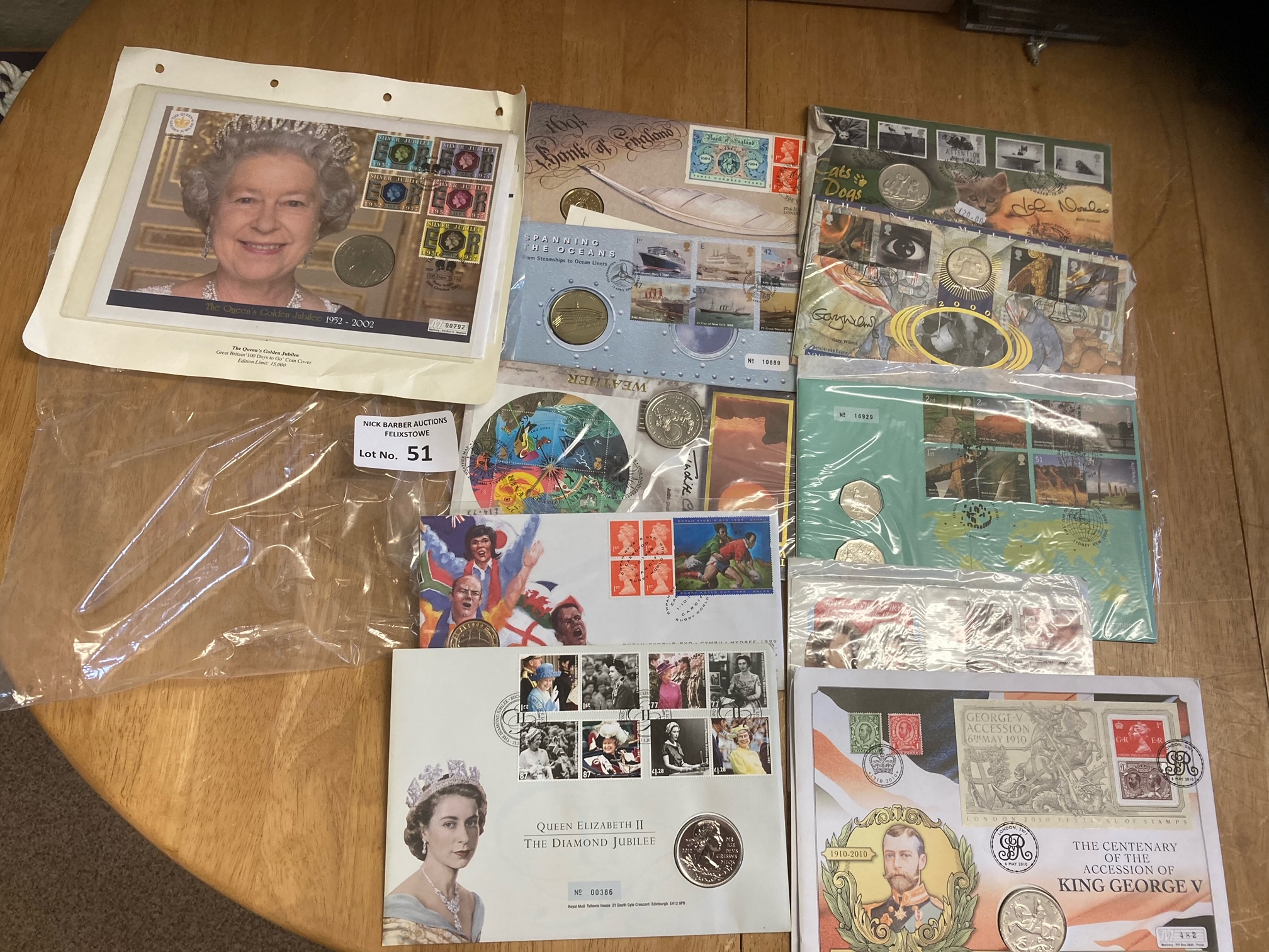 Stamps : GB coins covers some signed - inc John No - Image 2 of 2