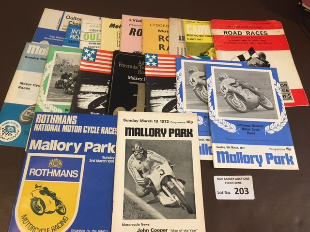 Motor Cycling : Collection of 1960's/70's programm