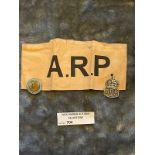 Militaria : ARP Armband & ARP Lapel Badge & Observ