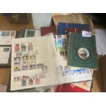 Stamps : 2 boxes of various World/GB & covers albu