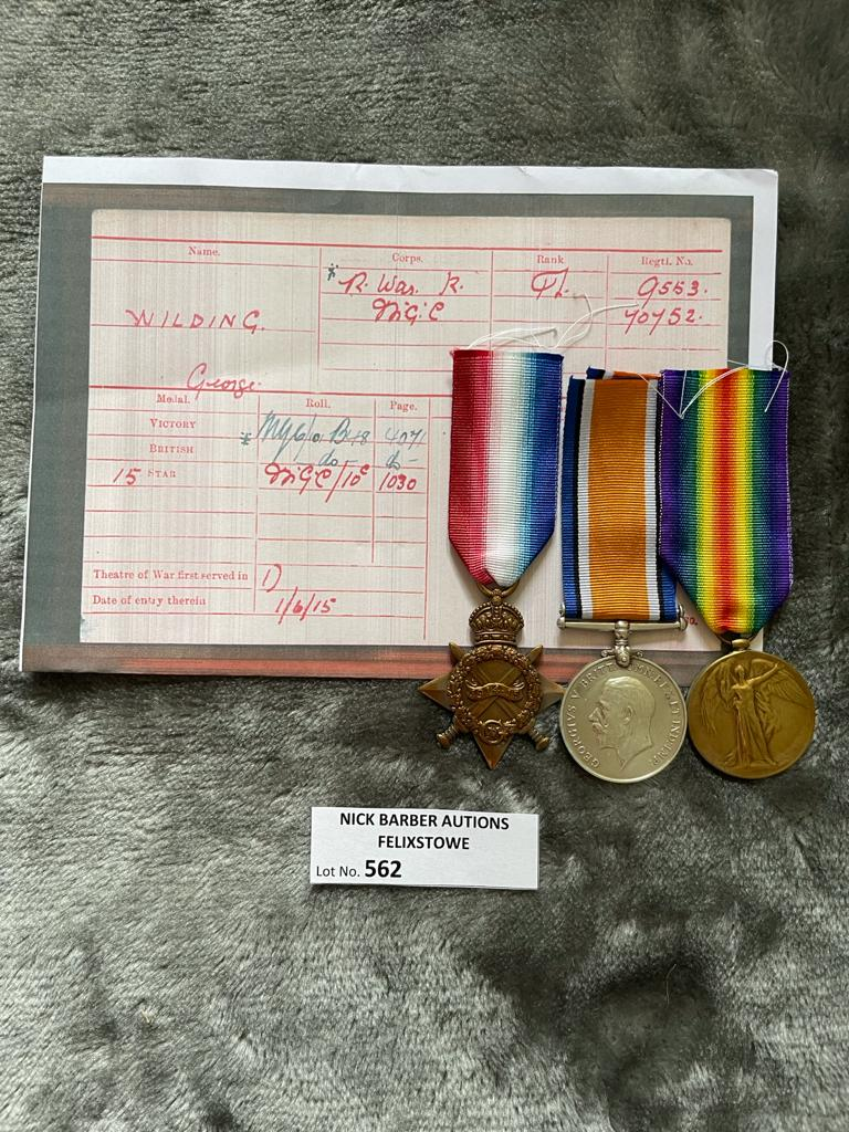 Militaria : Trios medal group to Pte. G Wilding R