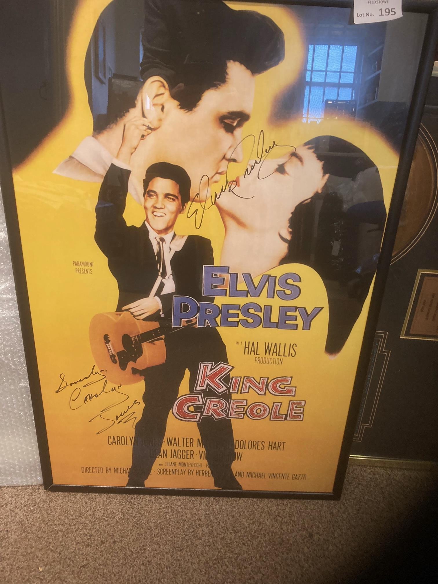Records : ELVIS PRESLEY signed poster framed/glaze - Image 2 of 3