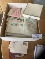 Stamps : White glory box, stamps, covers, cards -