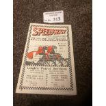 Speedway : Exeter - Gold Sash/Handicap programme 1