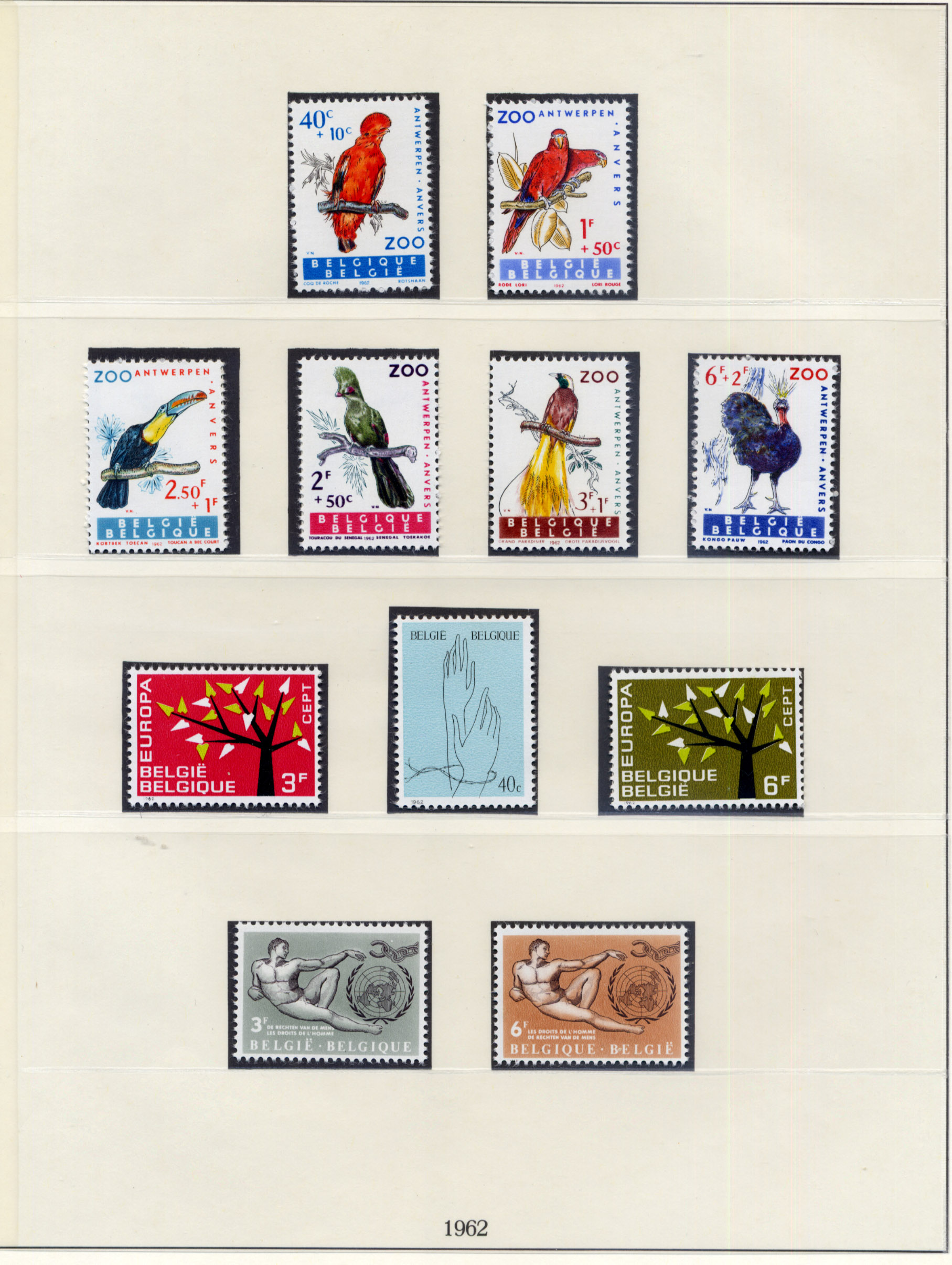 Stamps : Belgium Mainly UMM Selection on album pag - Image 2 of 4