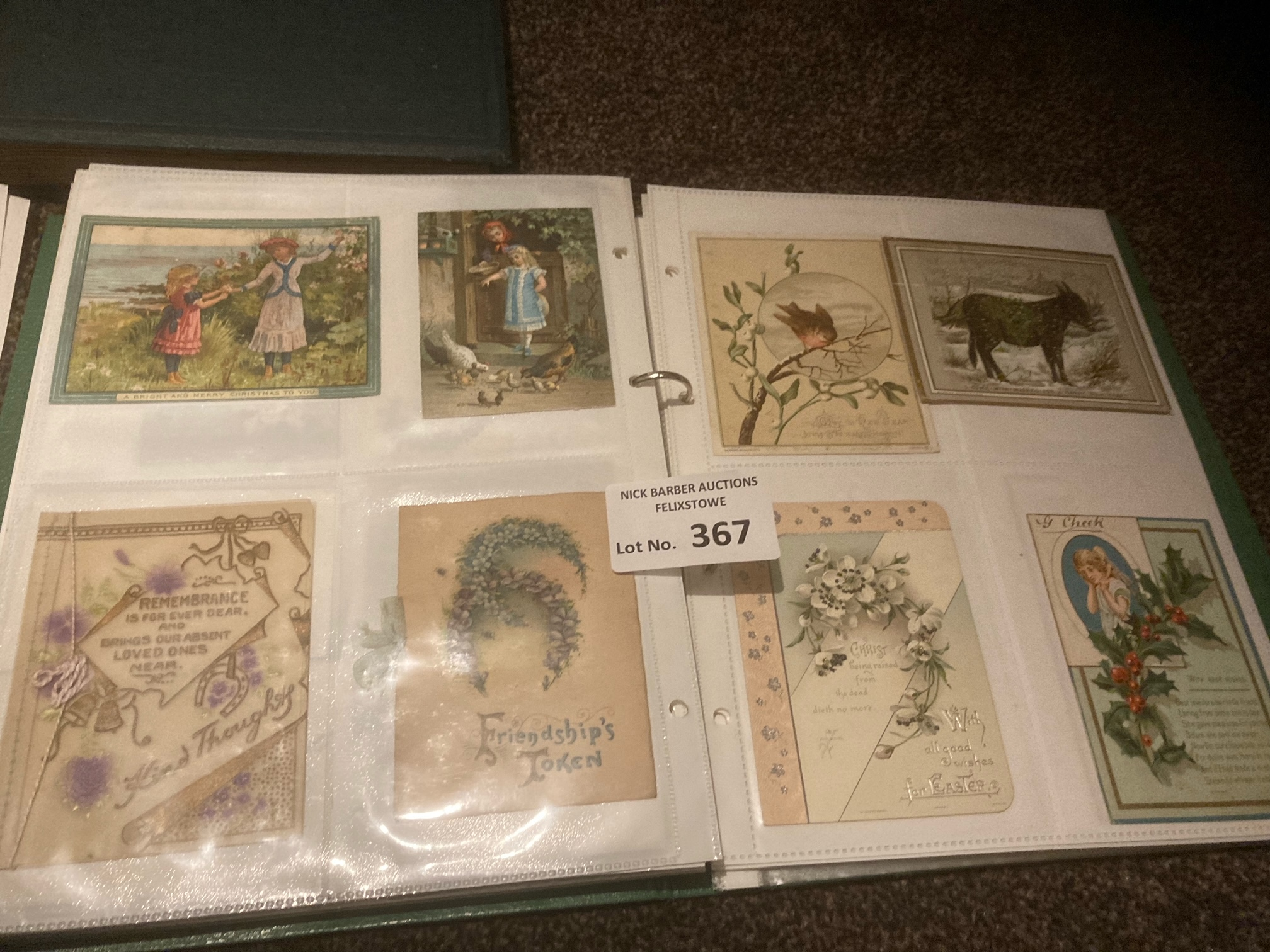 Postcards : Albbum of 206 cards - mainly Victorian - Image 2 of 3