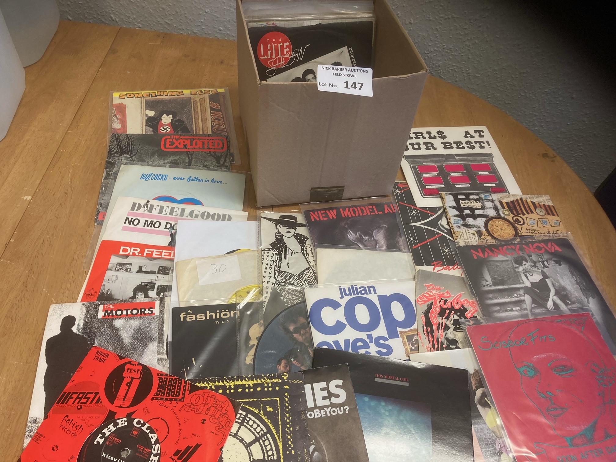 "Records : 7"" Punk singles (40+) inc Sex Pistols, B"
