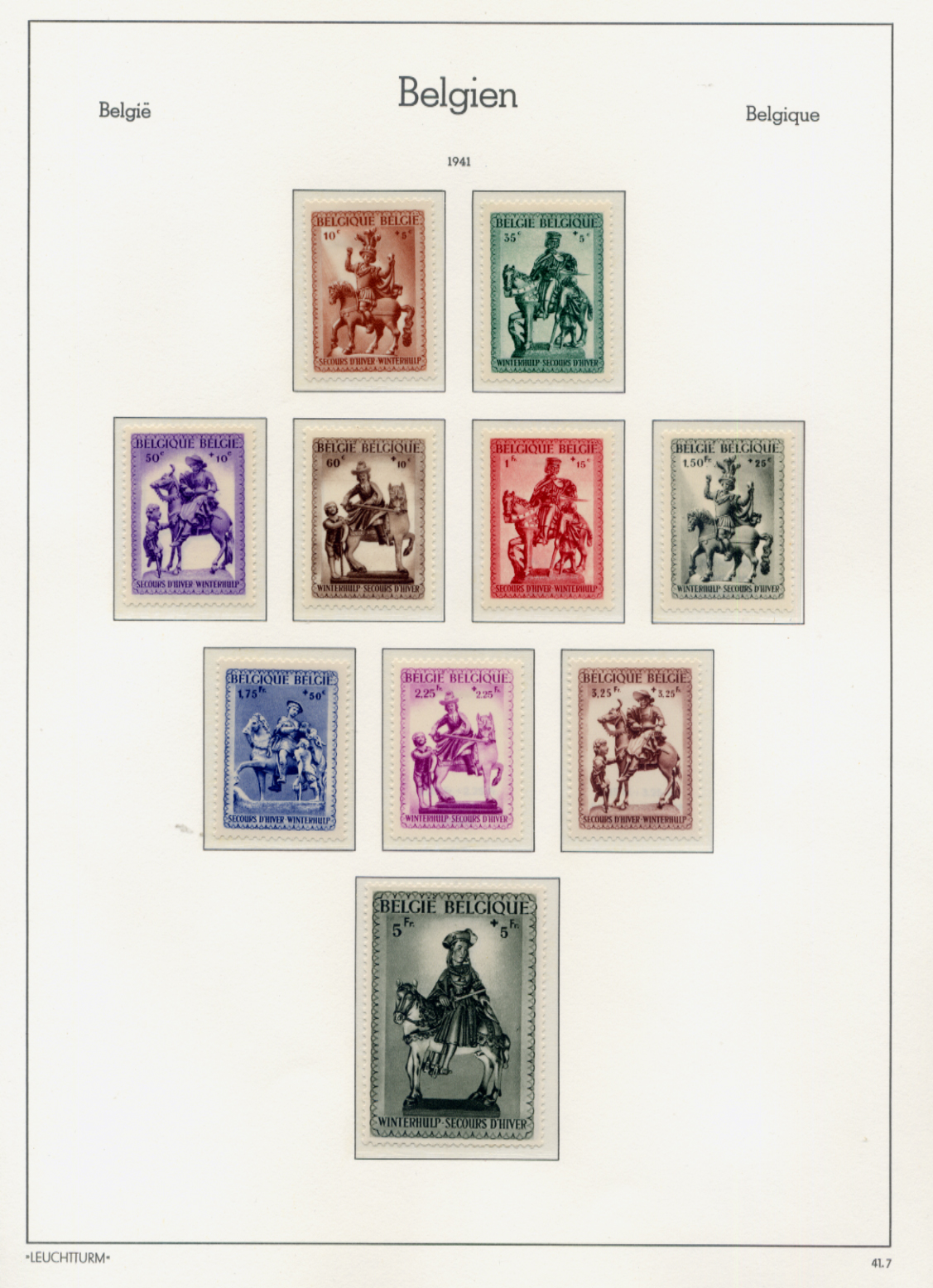 Stamps : Belgium Mainly UMM Selection on album pag - Image 3 of 4