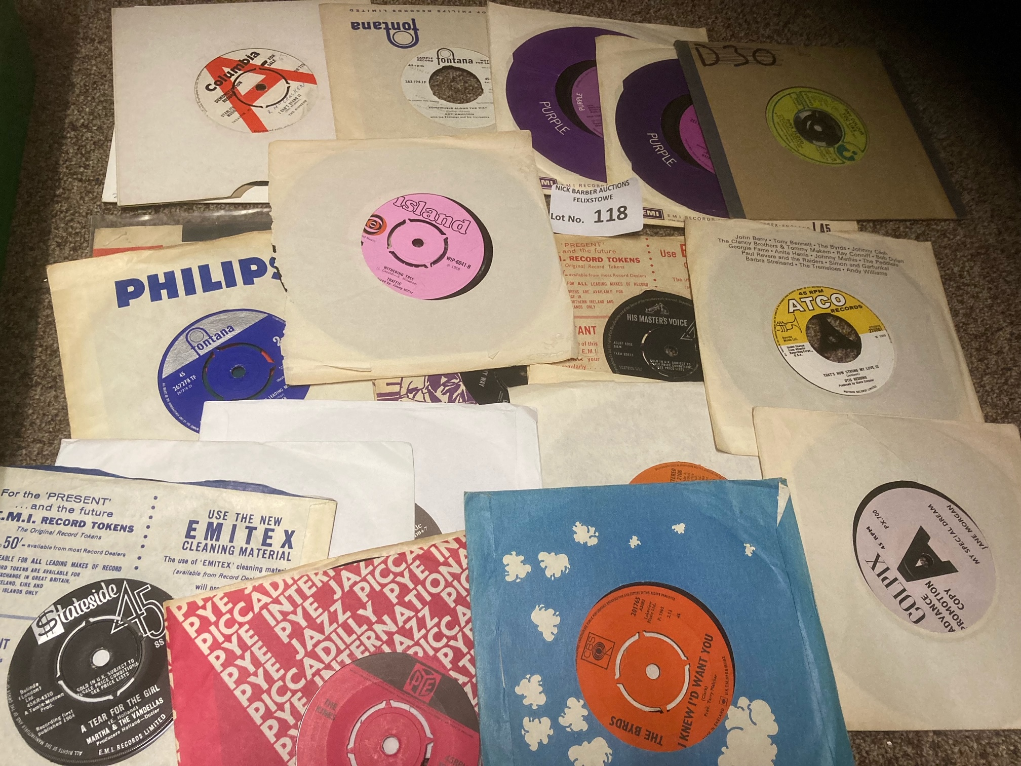 Records : Box of nice lot of 45's some demos inclu - Image 3 of 3
