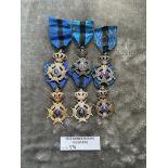 Militaria : 6x Belgium Medals - condition GVF/NEF
