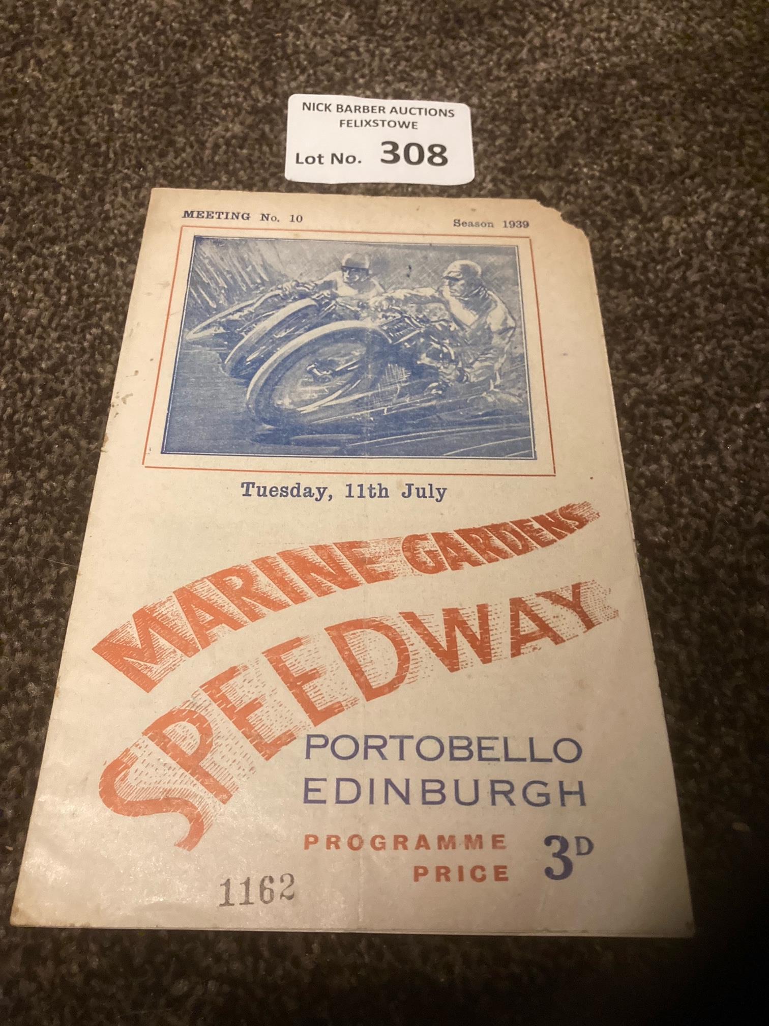 Speedway : Edinburgh Marine Gardens v Newcastle pr