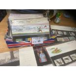 Stamps : Small box of 58 GB presentation packs wit