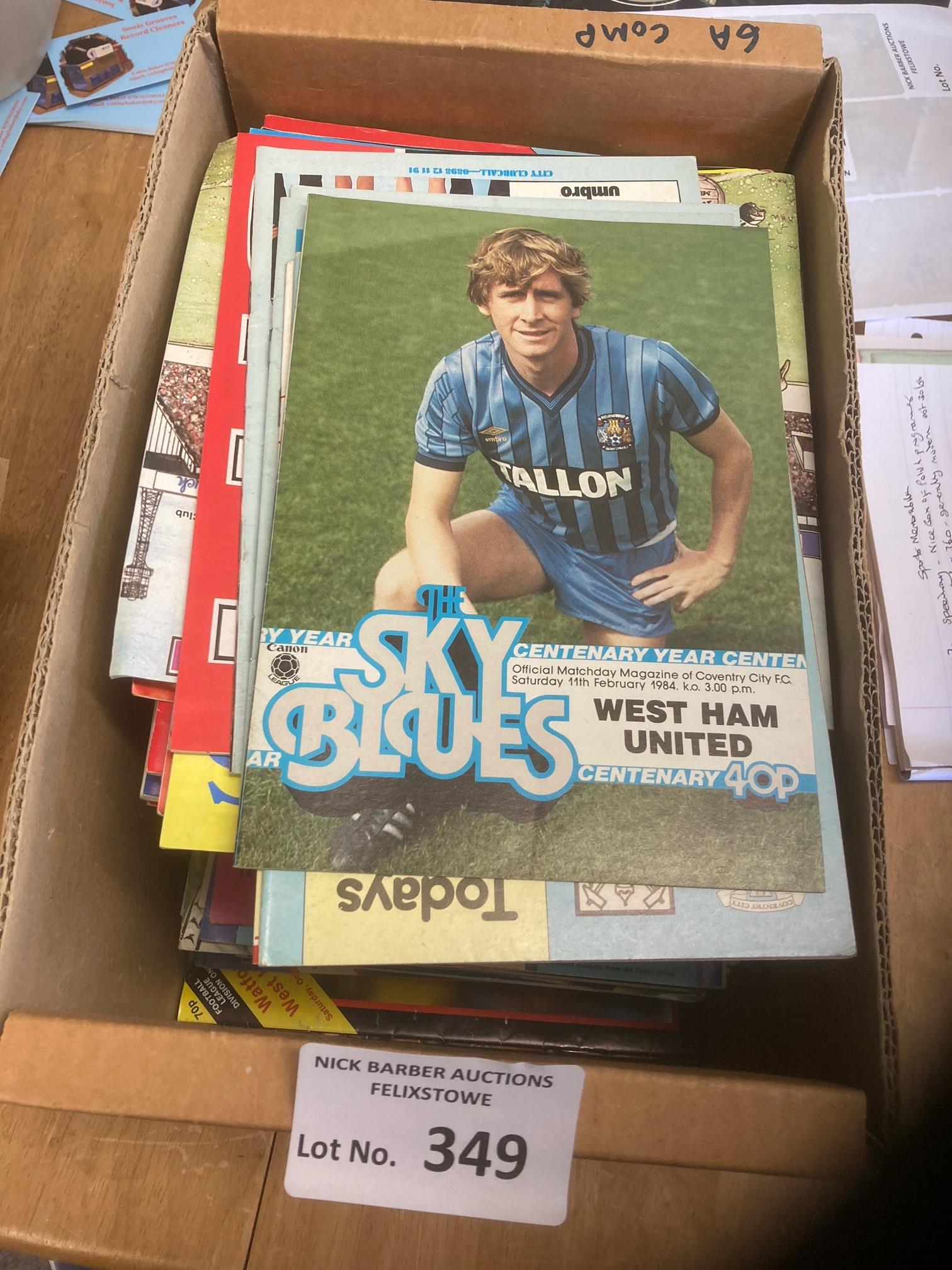 Football : West Ham away programmes in box 1970's-