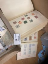 Stamps : Small box of British Commonwealth in albu