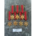 Militaria : 7x Burma Stars - condition NEF