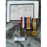 Militaria : 1914 Trios medal group to Dvr F Lemon R.F.A