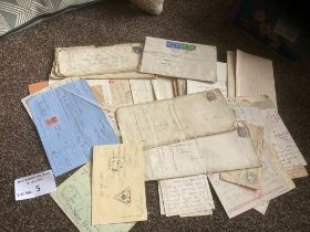 Stamps : Various covers & postcards back to QV - m