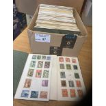 Stamps : Good box of 66 circulated club books - mo