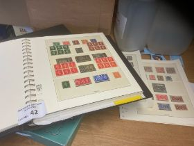 Stamps : Collection of GB stamps in hingeless Lind